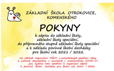 Pokyny k zápisu 2021/2022