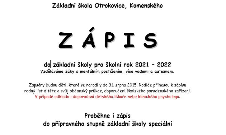 Zápis 2021/2022